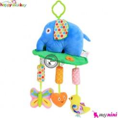 عروسک آویز صدادار فیل هپی مانکی Happy monkey toys