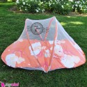 پشه بند کودکان تشکدار خرس مهربون نارنجی Baby mosquito net
