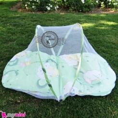 پشه بند کودکان تشکدار خرس مهربون سبز Baby mosquito net