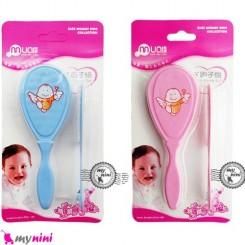 شانه و برس سیسمونی نوزاد و کودک مام لاو baby comb brush