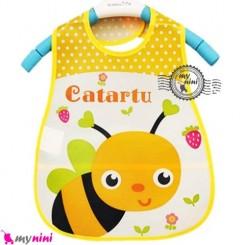 پیشبند نایلونی بچگانه جیب دار زنبور Baby waterproof bib