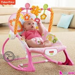گهواره برقی فیشر پرایس صورتی پروانه Fisher Price infant to todler