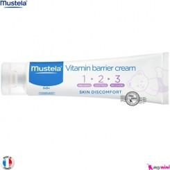 کرم سوختگی بریر موستلا 3 کاره 100 میل فرانسه mustela vitamin barrier cream