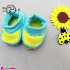 پاپوش پنبه ای نوزاد به آوران طرح هاچ Baby footwear