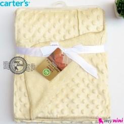 پتو کارترز حباب دو لایه کرمی Carter's baby fleece blanket