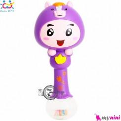 جغجغه موزیکال و چراغدار هویلی تویز اسب Huile Toys zodiac dynamic rhythm sticks