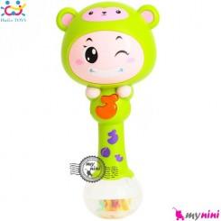جغجغه موزیکال و چراغدار هویلی تویز میمون Huile Toys zodiac dynamic rhythm sticks