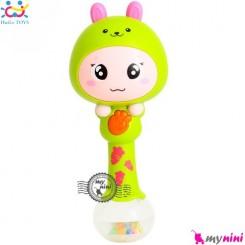 جغجغه موزیکال و چراغدار هویلی تویز خرگوش Huile Toys zodiac dynamic rhythm sticks