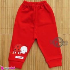 شلوار پنبه ای کفشدوزکی قرمز Ladybird baby Pants