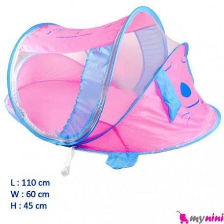 پشه بند موزیکال آبی صورتی نوزادی تا 5 سال Mosquito net