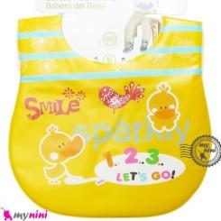 پیشبند ضد لک زرد جوجه اردک Baby cartoon waterproof bibs