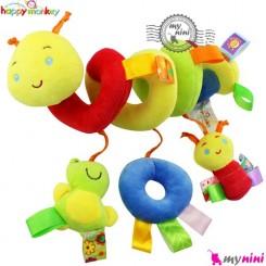 عروسک آویز پولیشی کِرم هپی مانکی baby activity spiral plush toy