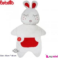 تشک و بالش مخمل خرگوش قرمز ببتو Bebetto