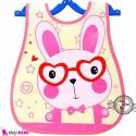 پیشبند نایلونی جیب دار خرگوش عینکی Baby waterproof bib