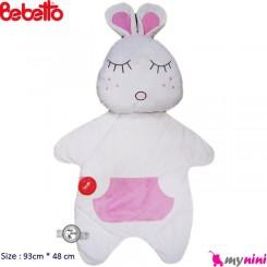 تشک و بالش مخمل خرگوش صورتی ببتو Bebetto
