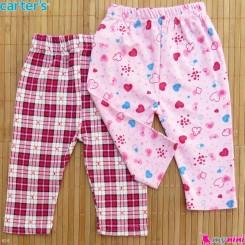 شلوار کارترز پنبه ای 2 عددی 0 تا 3 ماه Carter's baby pants