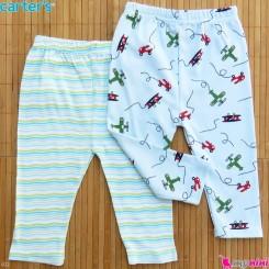 شلوار کارترز پنبه ای 2 عددی 6 تا 9 ماه Carter's baby pants
