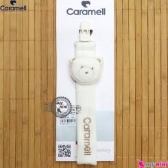 بند پستانک عروسکی کارامل ترکیه سفید نسکافه ای Caramell baby pacifier holder