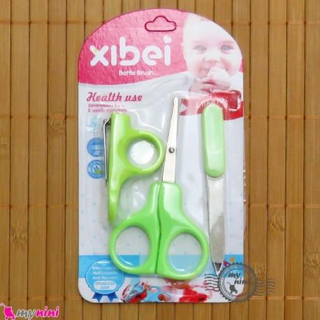 ناخنگیر و قیچی و سوهان 3 تکه نوزاد و کودک Baby nail clipper and scissor
