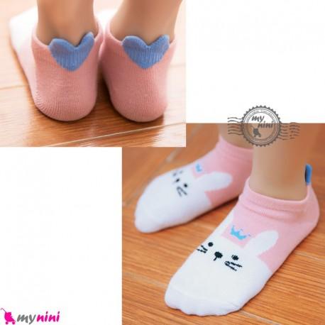 جوراب عروسکی نخی طرح خرگوش baby cute socks