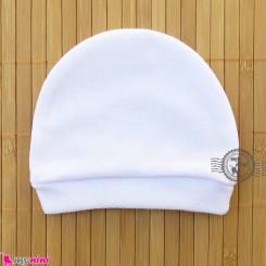 کلاه کشی نوزاد و کودک سفید اعلاء Baby Cotton hat