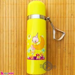 فلاسک استیل زرد کارتونی Baby thermos flask