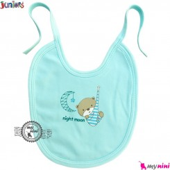 پیشبند پنبه ای آبی جونیورز 3 لایه Juniors baby blue bib