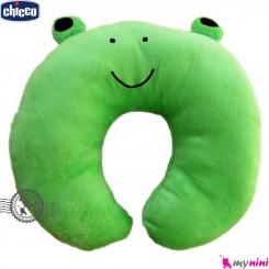 بالش دور گردنی چیکو سبز قورباغه Chicco Baby travel pillow