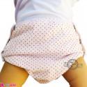 شورت دکمه ای ضد آب نوزاد و کودک 2 لایه خالدار صورتی baby waterproof pants