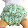 شورت دکمه ای ضد آب نوزاد و کودک 2 لایه چهارخانه طرحدار سبز baby waterproof pants
