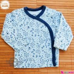 بلوز جلو دکمه دار پنبه ای مارک کول کلاب cool club Long Sleeve Side Snap Shirts