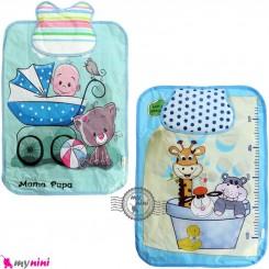 زیرانداز تعویض پوشک بالشدار نایلونی نوزاد و کودک کارتونی آبی Diaper Changing Mat