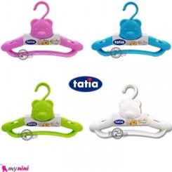 چوب لباسی 3 عددی نوزاد و کودک خرسی تاتیا Tatia clothes hanger خرید سیسمونی لوازم نوزاد و کودک