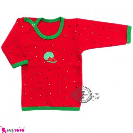 بلوز آستین بلند پنبه ای طرح هندوانه cute watermelon baby clothes