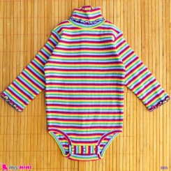 لباس آستین بلند زیردکمه دار پنبه ای نوزاد و کودک Kids long sleeve bodysuits