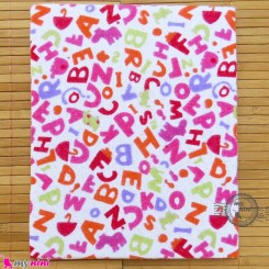 خشک کن پنبه ای تک نوزاد و کودک الفبای انگلیسی Mama papa baby blanket