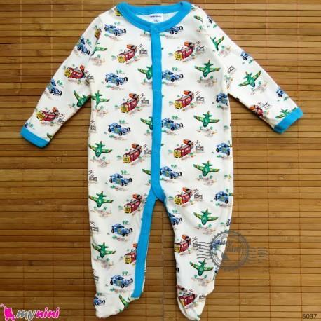 سرهمی کارترز پنبه ای نوزاد و کودک ماشین و هواپیما 3 ماه Carter's baby bodysuit