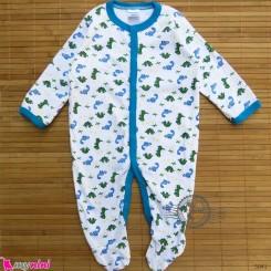 سرهمی کارترز پنبه ای نوزاد و کودک دایناسور سبز و آبی 3 ماه Carter's baby bodysuit