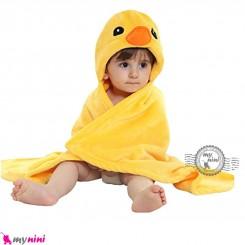 پتو کلاهدار عروسکی نوزاد و کودک جوجه اردک baby hooded fleece blanket خرید سیسمونی و لوازم کودک