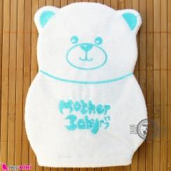 لیف نوزاد و کودک عروسکی خرس رنگ سبزآبی Baby Hand Bath Shower Wash Mitt سیسمونی نوزاد و لوازم کودک