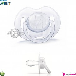 پستانک فیلیپس اونت نوزاد 0 تا 6 ماه تک عددی سفید شفاف Philips Avent baby soother