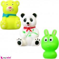 پوپت و اسباب بازی حمام سوتی نوزاد و کودک 3 عددی حیوانات baby bath toys
