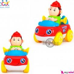 اسباب بازی ماشین هویلی تویز نوزاد و کودک طرح آتش نشان Huile Toys professional car سیسمونی و وسایل کودک