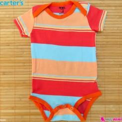 لباس آستین کوتاه زیردکمه دار بچه گانه نخ پنبه مارک کارترز 6 تا 9 ماه Carters baby bodysuits