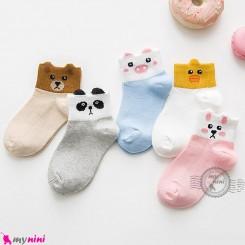 جوراب عروسکی پنبه ای حیوانات بامزه مارک هانِن Hanen lee baby cute socks لوازم کودک