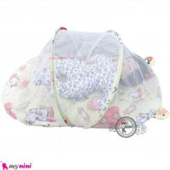 پشه بند تشک دار نوزاد و کودک مارک اسپرینگ کِرِمی گربه Espring Baby mosquito net