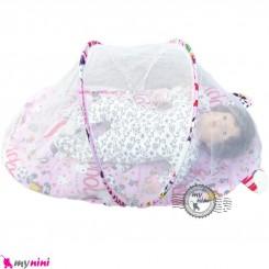 پشه بند تشک دار نوزاد و کودک مارک اسپرینگ یاسی سگ کارتونی Espring Baby mosquito net