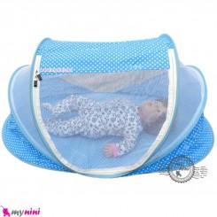پشه بند سایز بزرگ نوزاد و کودک مارک اسپرینگ آبی Espring Baby mosquito net