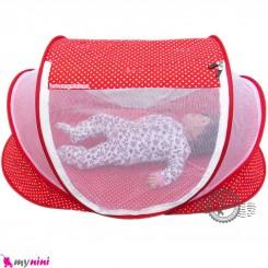 پشه بند سایز بزرگ نوزاد و کودک مارک اسپرینگ قرمز Espring Baby mosquito net
