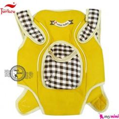 آغوشی نوزاد میسی بِی بی ترکیه زرد- چهارخانه Missi baby carrier